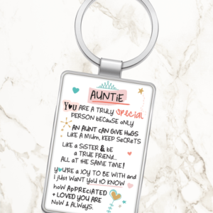 Auntie Auntie You Are A Truly Special Person – Metal Keyring
