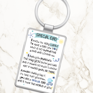 Fathers Day Gifts Special Dad – Metal Keyring