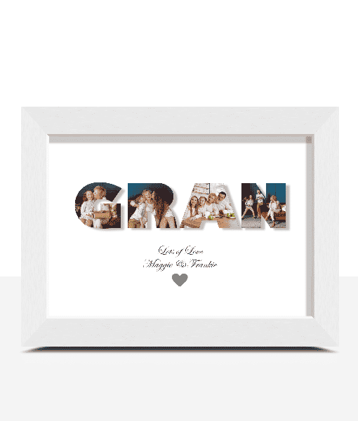 Gifts For Grandparents Personalised GRAN Photo Gift