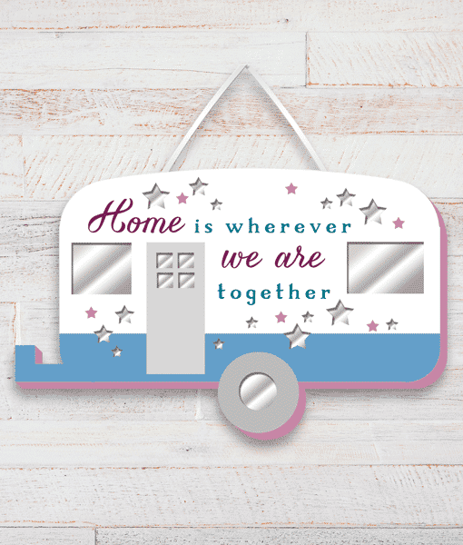 Family Caravan Home Wooden Plaque