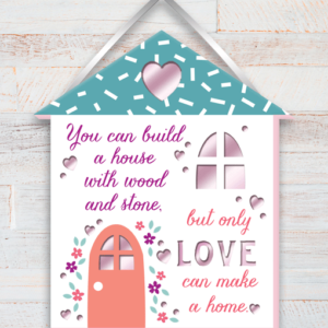 New Home Home Built With Love Wooden Plaque