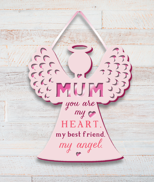 Family Mum, My Best Friend, My Angel – Plaque