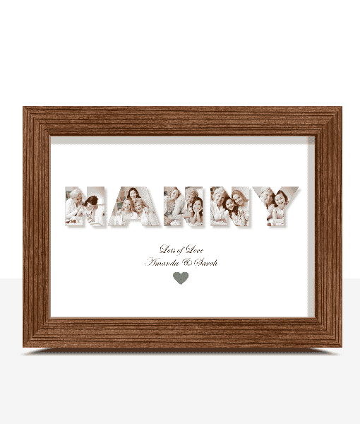 Gifts For Grandparents Personalised NANNY Photo Gift Print