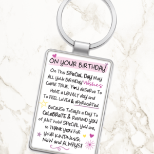 On Your Birthday – Metal Keyring