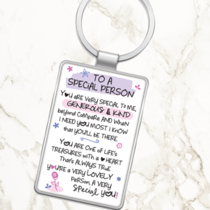 To A Special Person – Metal Keyring