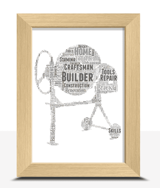 [tag] Cement Mixer Word Art – Builder Gift