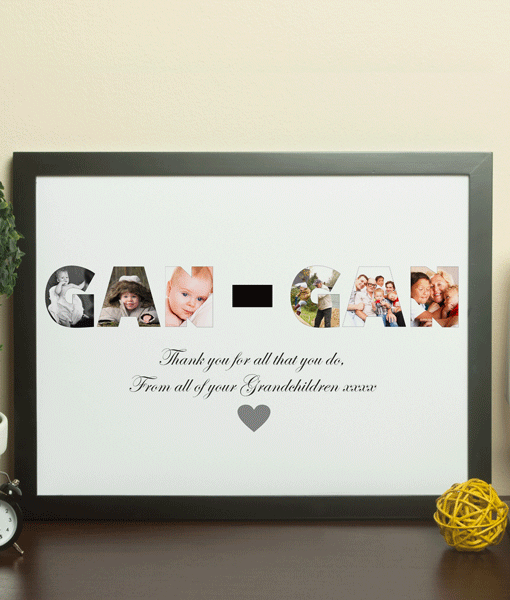 Fathers Day Gifts Personalised GAN GAN Photo Gift Print