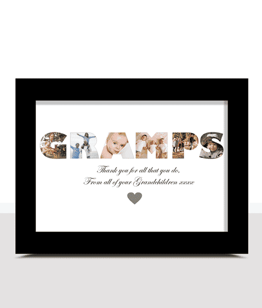 Fathers Day Gifts Personalised GRAMPS Photo Print