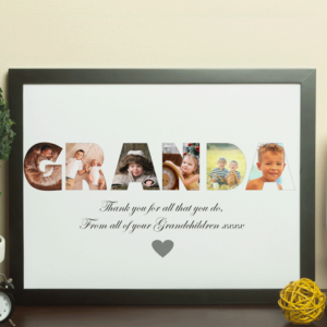 Gifts For Grandparents Personalised GRANDA Photo Gift