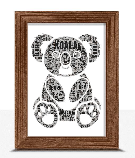 Koala Word Art Print