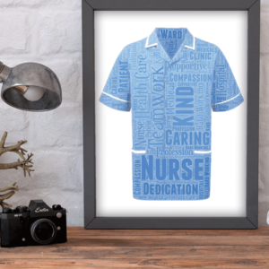 Male Nurse Word Art Print