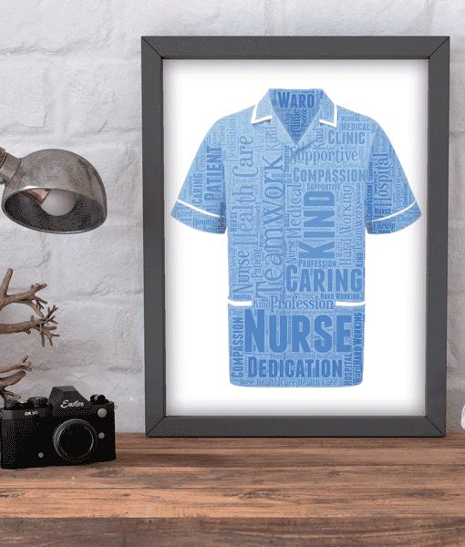 Retirement Gifts Male Nurse Word Art Print