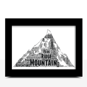 Personalised Mountain Word Art Print