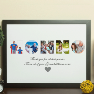 Gifts For Grandparents Personalised NONNO Photo Gift