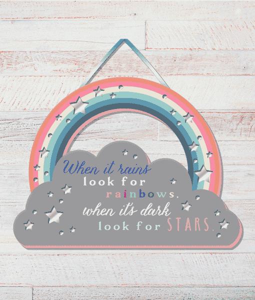 [tag] Rainbow – Positivity Plaque