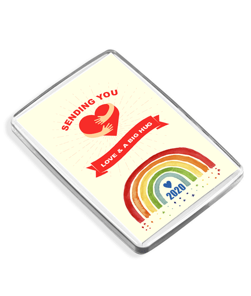 [tag] Sending You Love & A Big Hug – Rainbow Fridge Magnet