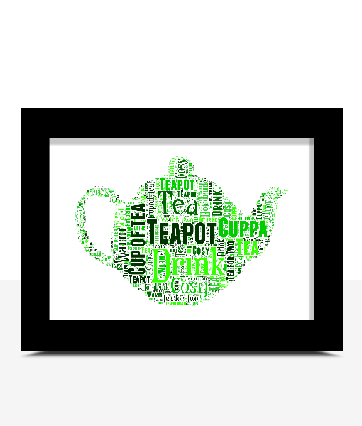 Food And Drink Personalised Teapot Word Art Print