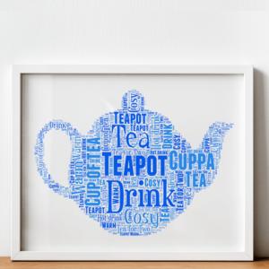 Food And Drink Personalised Teapot Word Art Print