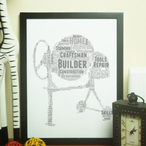 Cement Mixer Word Art – Builder Gift