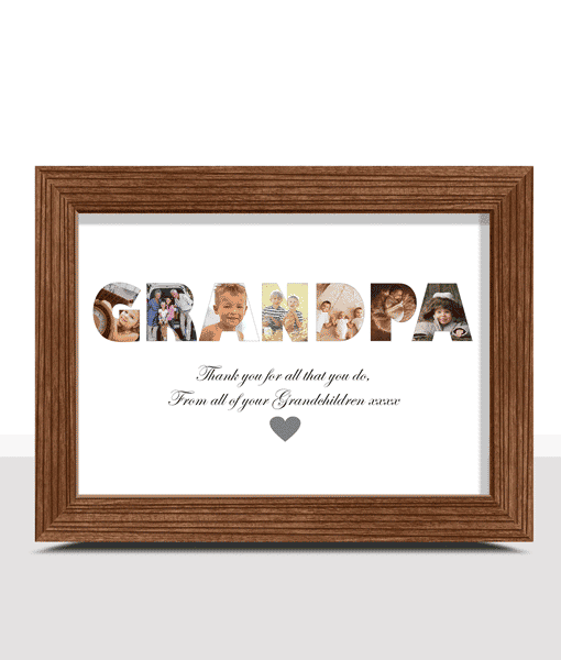 Fathers Day Gifts Personalised GRANDPA Photo Gift