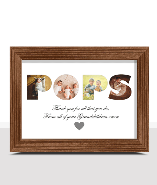 Gifts For Grandparents Personalised POPS Photo Gift