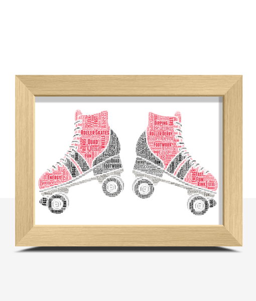 Gifts For Children Personalised Roller Skates Word Art