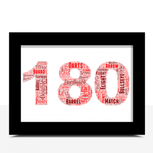 180 Darts Word Art Print