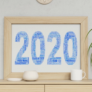 Personalised 2020 Word Art Print