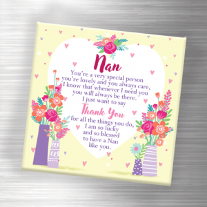 Thank You Nan – Fridge Magnet