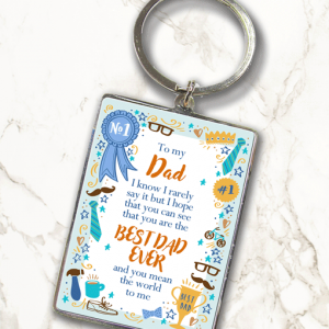 Best Dad Ever – Metal Keyring