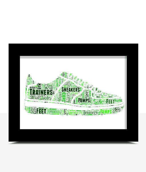 Sport Personalised Running Shoes – Trainers Word Art Print