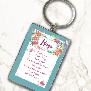 [tag] Hugs – Metal Keyring
