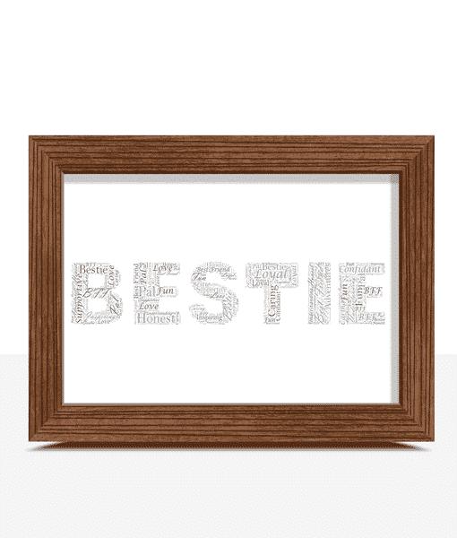 BESTIE Word Art Print Gifts For Friends