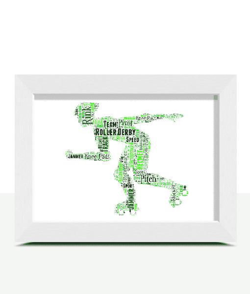 Sport Roller Derby Word Art