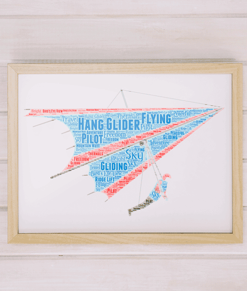 Sport Personalised Hang Glider Word Art