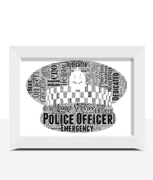 [tag] Personalised Police Flat Peaked Cap Word Art