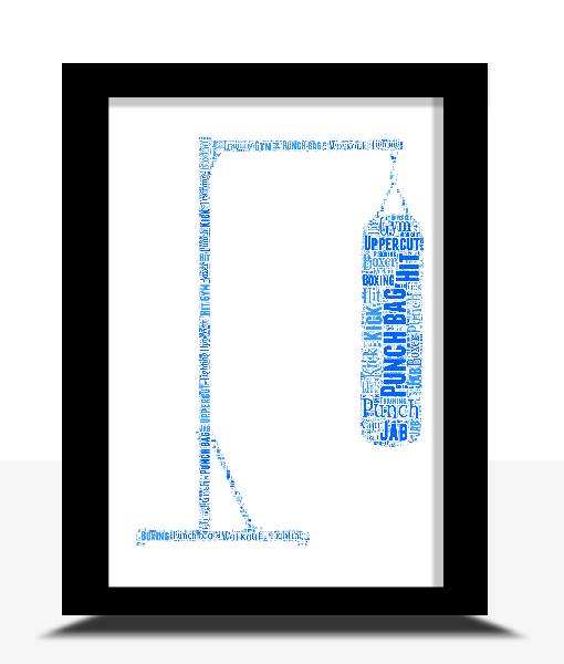 Sport Personalised Punch Bag Word Art Print