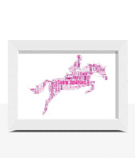[tag] Showjumping Horse Word Art Print