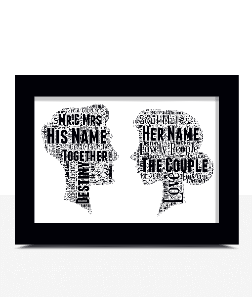 Gifts For Couples The Perfect Couple – Word Art Gift