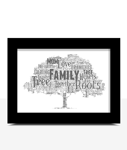 Tree Word Art Print