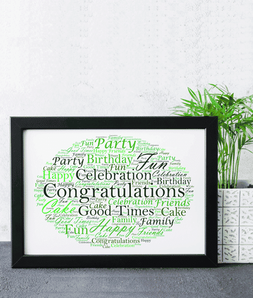 [tag] Personalised Word Cloud Art Gift