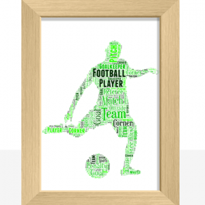 Football Gifts Personalised Male Football Player – Word Art Gift