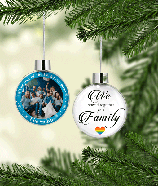 Christmas Family Christmas Photo Baubles – The year of the Lockdown 2020