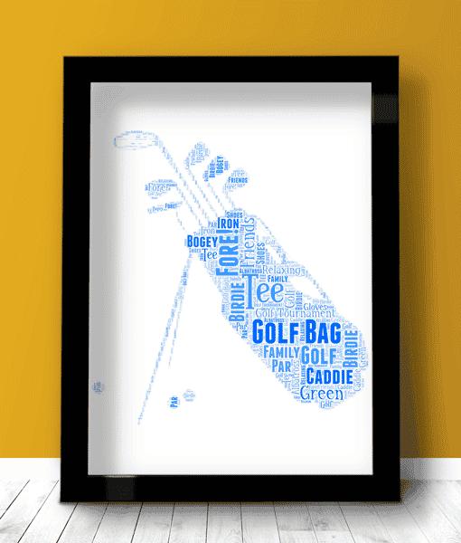 Sport Personalised Golf Bag Word Art – Golfing Gift