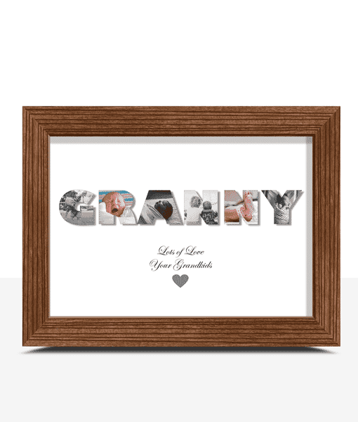 Gifts For Grandparents Personalised GRANNY Photo Gift