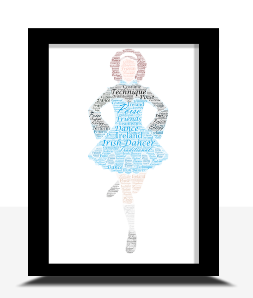[tag] Personalised Irish Dancer Word Art Print