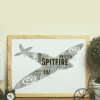 Personalised RAF Spitfire Plane Word Art Military Gifts