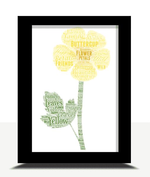 [tag] Buttercup Word Art Print