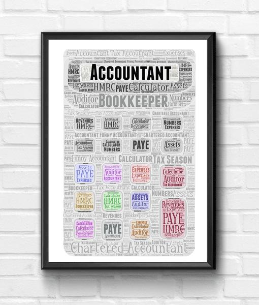 Teacher Gifts Personalised Calculator Word Art Print