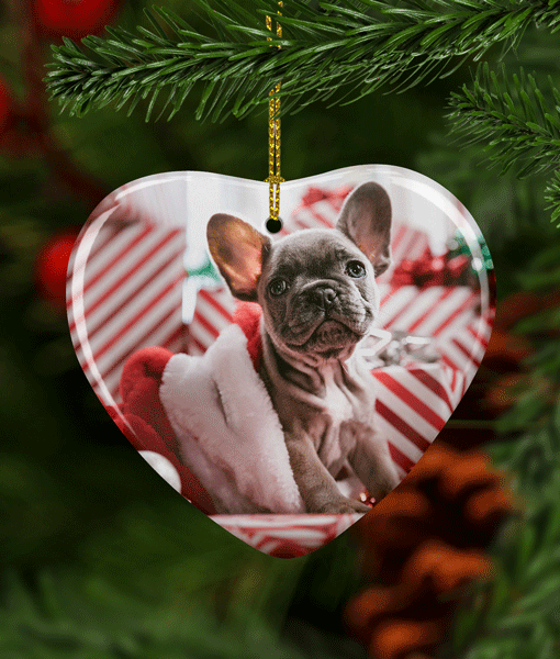 Christmas Ceramic Heart – Photo Christmas Decorations